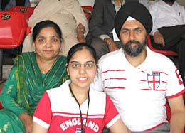 Monty's mother, sister and father at Mohali