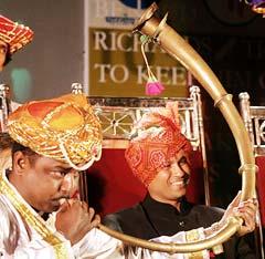 Sachin Tendulkar at the felicitation ceremony