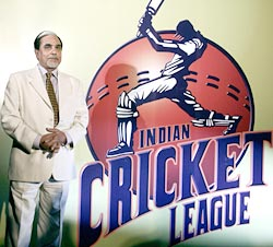 Subhash Chandra at the launch of Indian Cricket League