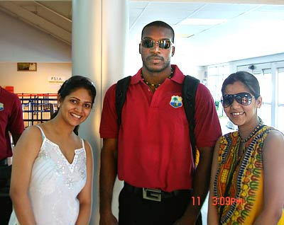 West indies cricketers wife