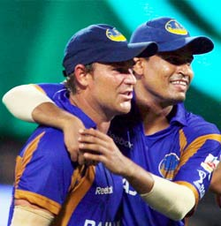 Yusuf Pathan and Shane Warne