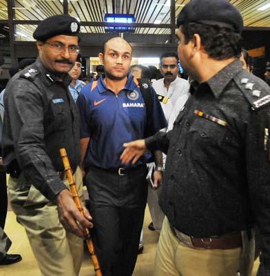 Virender Sehwag at Karachi Airport