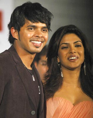 Sreesanth and Priyanka