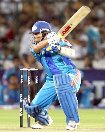 wicket as Sachin Tendulkar