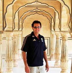 Bryce Mcgain at the Amber Fort in Jaipur