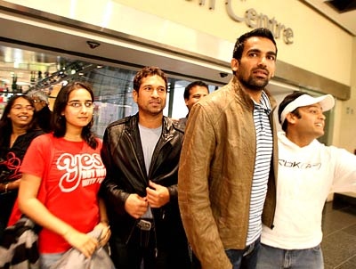 Sachin Tendulkar and Zaheer Khan