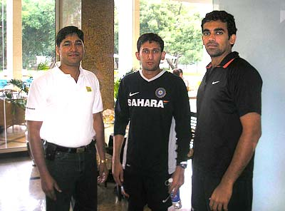 Ajit Agarkar and Zaheer Khan