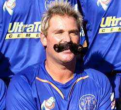 Shane Warne sporting the Big Moustache