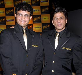 Sourav Ganguly and Shah Rukh