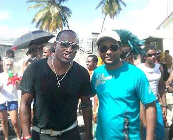 Brian Lara in Barbados