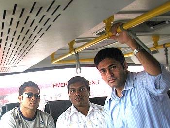Sachin Tendulkar at Mumbai airport