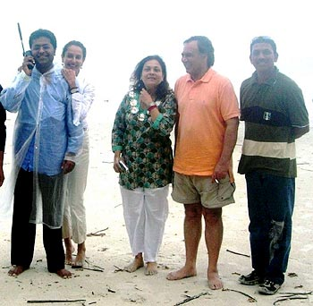 Spotted: IPL chairman Lalit Modi in the Andaman Islands
