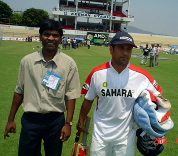 Sachin Tendulkar with Ramireddi