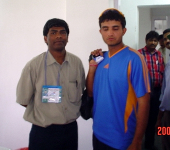 Sourav Ganguly with Ramireddi