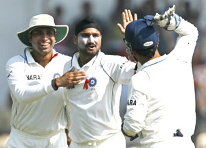 Harbhajan Singh and VVS Laxman