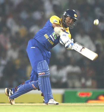 Kumar Sangakkara during his 37-ball 78 knock