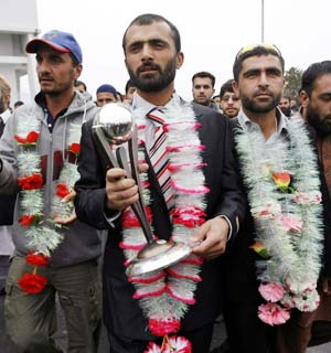 Afghanistan's cricketers arrived in Kabul last week to a modest but ecstatic crowd after reaching the final stage of the 2011 World Cup qualifiers