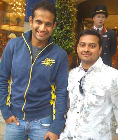 Irfan Pathan with Prashanth Raghavendra