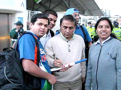 Sunil Gavaskar in London