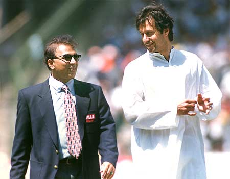 Sunil Gavaskar and Imran Khan