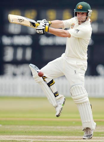 Australia's Phillip Hughes hits out against Sussex