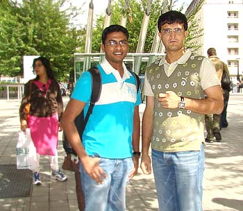 Sourav Ganguly in London