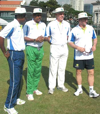 Chaminda Vaas, Kapil Dev, Greg Chappell and Steve Waugh