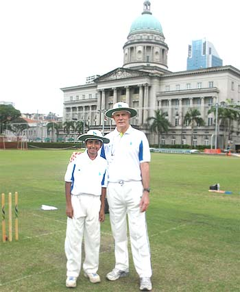 Greg Chappell with Vaikunth