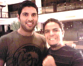Yuvraj Singh at Taj Lands End