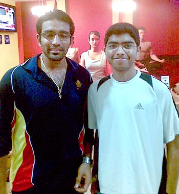 Robin Uthappa at a gym in Bangalore