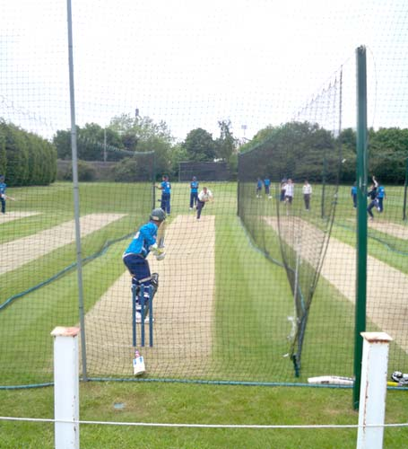 The Bangladesh team practice