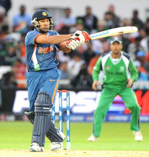 Rohit Sharma in action