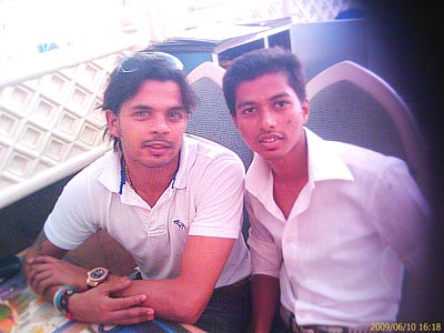 Sameer along with Sreesanth