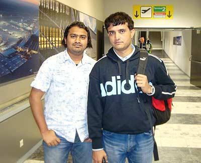 Sourav Ganguly with Mohd. Iqbal Shaikh