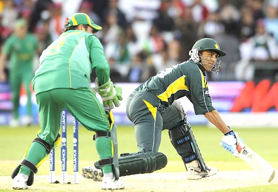 Captain Younis Khan scored an unbeaten 24