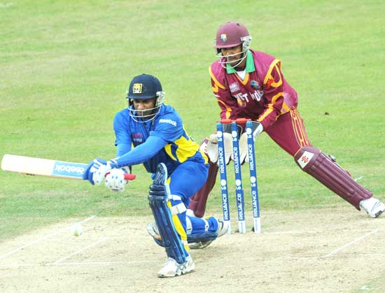 Opener Sanath Jayasuriya struggled as he made just 24 off 37 balls