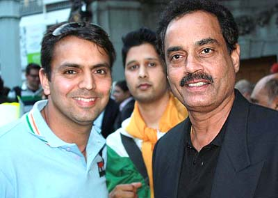 Dilip Vengsarkar along with Suneel Sadhwani