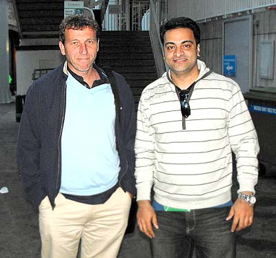 Mike Atherton with Sandeep Khopkar