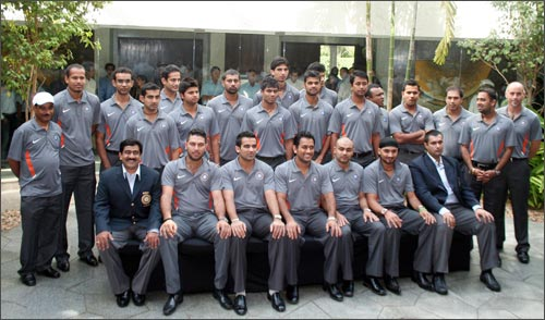 The Indian team for the Twenty20 World Cup