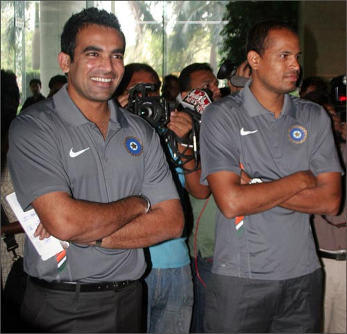 Zaheer Khan and Yusuf Pathan