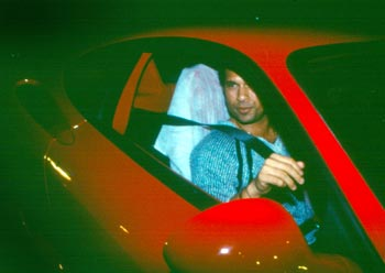 Sachin Tendulkar in his Ferrari
