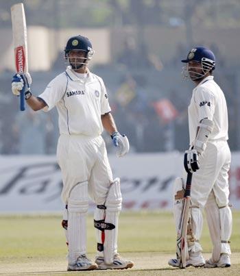 Rahul Dravid and Sachin Tendulkar