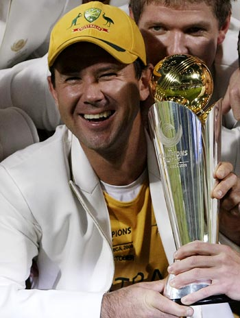 Ricky Ponting with the ICC Champions Trophy title