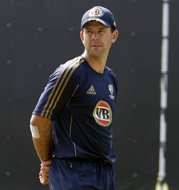 Ricky Ponting was upset after being given a watered pitch for practice