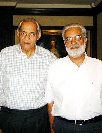 Raj Singh Dungarpur with Inderjeet Singh Bindra