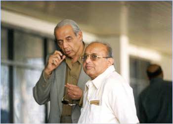 Raj Singh Dungarpur with Jaywant Lele