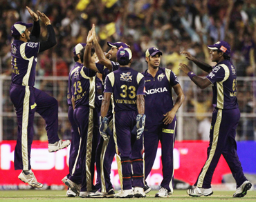 The Kolkata Knight Riders celebrate