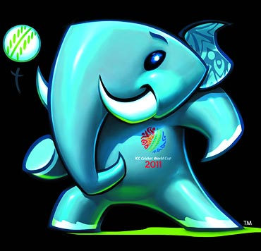 The mascot for the 2011 World Cup