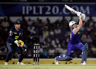 Adam Gilchrist watches Shane Watson in full flow