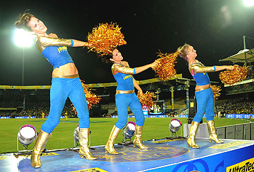 Rajasthan Royals cheerleaders in the match against Chennai Super Kings
